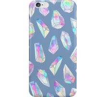 Aura Polygons - blue grey iPhone Case/Skin
