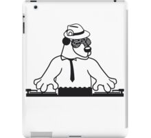 disco mischpult hang plates dj party ribbon bass buttons play dance hat cool club concert hardrock heavy metal teddy bear iPad Case/Skin