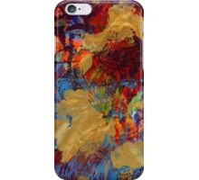 Abstract Gold on the Sea by Laura L. Leatherwood iPhone Case/Skin