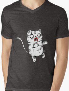 Zombie Cat Mens V-Neck T-Shirt
