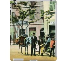 Vintage Gibraltar vegetables seller, street scene iPad Case/Skin