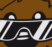 cool sunglasses summer face head teddy party comic cartoon Sticker