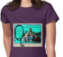Alice in Wonderland and Through the Looking Glass Alphabet Q Womens Fitted T-Shirt