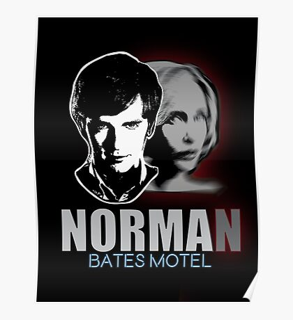 Norma-Norman Bates Motel Poster