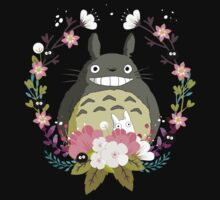 Totoro and the Spring One Piece - Short Sleeve