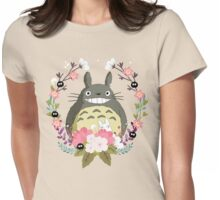 Totoro and the Spring Womens Fitted T-Shirt