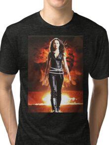 Summer Glau - BADASS WOMEN Tri-blend T-Shirt