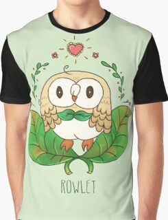 rowlet starter pokemon Graphic T-Shirt