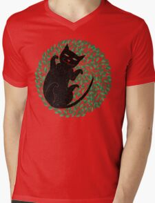 Summer cat Mens V-Neck T-Shirt