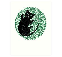 Summer cat Art Print