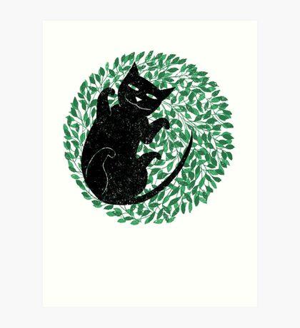 Summer cat Art Print