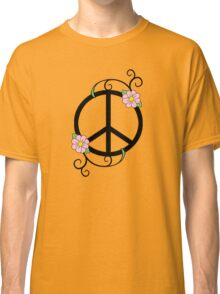 Peace, Daisy, Swirl Illustration Classic T-Shirt