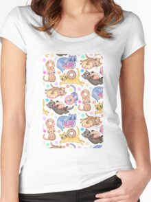 Sprinkles on Donuts and Whiskers on Kittens Women's Fitted Scoop T-Shirt