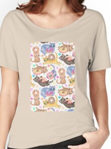 Sprinkles on Donuts and Whiskers on Kittens Women's Relaxed Fit T-Shirt