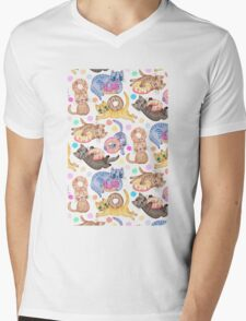 Sprinkles on Donuts and Whiskers on Kittens Mens V-Neck T-Shirt