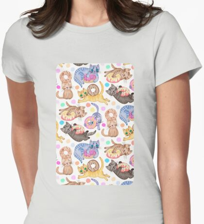 Sprinkles on Donuts and Whiskers on Kittens Womens Fitted T-Shirt
