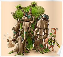treant with enchantress Poster