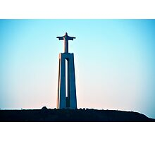 Statue of Christ overlooking Lisbon, Portugal Photographic Print