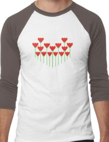 LET YOUR LOVE GROW Men's Baseball ¾ T-Shirt