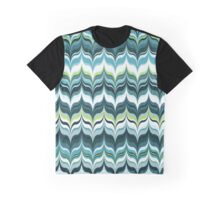 Marbled in Blue Graphic T-Shirt