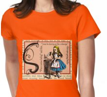 Alice in Wonderland and Through the Looking Glass Alphabet S Womens Fitted T-Shirt