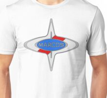 Marcos Car Badge, Colour fill, Black Outline Unisex T-Shirt