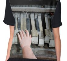 Creepy Piano Baby Chiffon Top