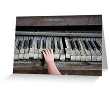 Creepy Piano Baby Greeting Card