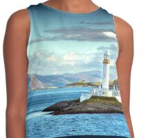 Scenic View Scottish Lighthouse Contrast Tank