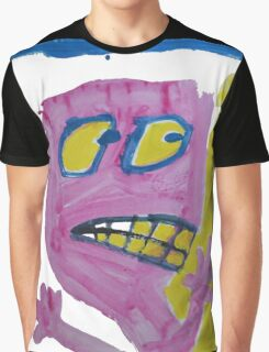 Toby - Pink Graphic Face Graphic T-Shirt