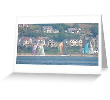 Boats in Water Colour  - Donegal - Buncrana Ireland Greeting Card