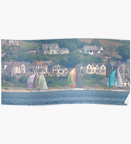Boats in Water Colour  - Donegal - Buncrana Ireland Poster