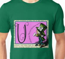Alice in Wonderland and Through the Looking Glass Alphabet U Unisex T-Shirt
