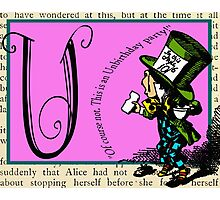 Alice in Wonderland and Through the Looking Glass Alphabet U Photographic Print