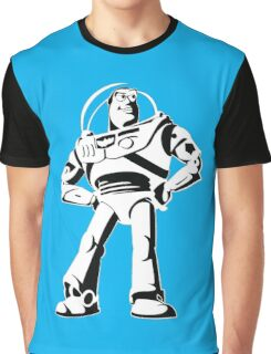 Buzz Lightyear Black and White Vector Graphic T-Shirt