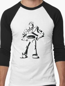 Buzz Lightyear Black and White Vector Men's Baseball ¾ T-Shirt