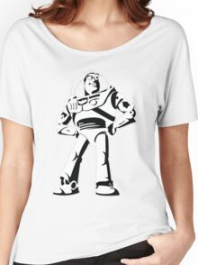 Buzz Lightyear Black and White Vector Women's Relaxed Fit T-Shirt