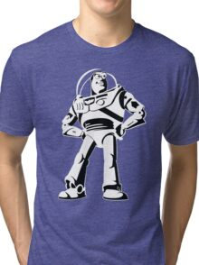 Buzz Lightyear Black and White Vector Tri-blend T-Shirt