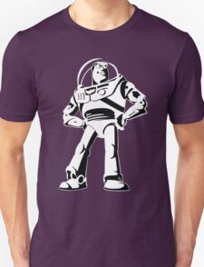 Buzz Lightyear Black and White Vector Unisex T-Shirt