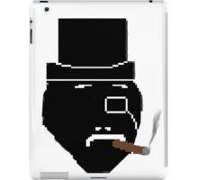 fancy Sir smoking cigar iPad Case/Skin