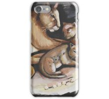 Mountain Lion And Cubs iPhone Case/Skin