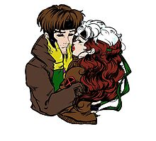 Rogue And Gambit Photographic Print