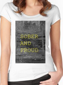 SOBER AND PROUD Women's Fitted Scoop T-Shirt