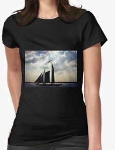 Schooner, New York Womens Fitted T-Shirt