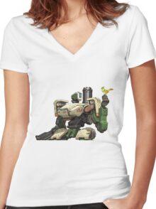 Bastion Women's Fitted V-Neck T-Shirt