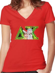Rick and Morty Delta Chi Women's Fitted V-Neck T-Shirt