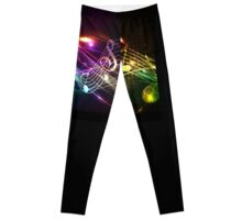 Music Notes in Color for Music-lovers Leggings