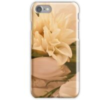 Wedding Wishes Card - White Flowers  iPhone Case/Skin