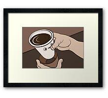 Coffee Collar Framed Print