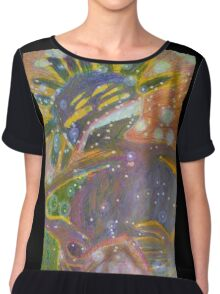 There's Death In Me Still - Abstract Portrait Chiffon Top